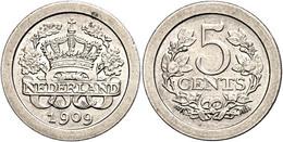 5 Cent, 1909, Wilhelmina, Schulman 914, Vz-st.  Vz-st - Paesi Bassi