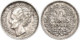10 Cent, 1944, P, Wilhelmina, Schulman 1059, Vz.  Vz - Paesi Bassi
