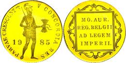1 Dukat, Gold, 1985, Mit Zertifikat In Ausgabeetui, PP.  PP - Paesi Bassi
