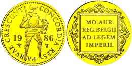 1 Dukat, Gold, 1986, Mit Zertifikat In Ausgabeetui, PP.   PP - Paesi Bassi