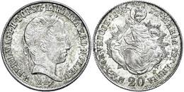 Aufständische In Ungarn, 20 Krajczár, 1848, Ferdinand I., J. 265, Vz-st.  Vz-st - Austria