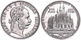 Doppelgulden, 1887, Franz Josef I., Wien, Auf Die Wiederaufnahme Des Bergbaus In Kuttenberg, Auflage Nur 400 Stück! J. 3 - Austria