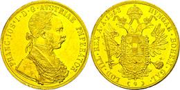 4 Dukaten, 1913, Franz Joseph I., Randfehler, Vz. Selten!  Vz - Austria