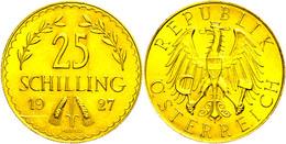 25 Schilling, Gold, 1927, Fb. 521, Kratzer, Vz-st.  Vz - Austria