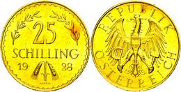25 Schilling, Gold, 1928, Fb. 521, Vz.  Vz - Austria