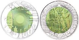 25 Euro 2008, Silber/Niob, 150. Geburtstag Von Carl Freiherr Auer Von Welsbach, In Kapsel, Ohne Etui Und Zertifikat, Han - Austria