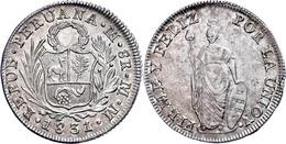 8 Reales, 1831, MM Lima, KM 142.3, Kl. Rf., Vz-st.  Vz-st - Peru