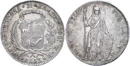 8 Reales, 1842, MB Lima, KM 142.10, Vz.  Vz - Peru