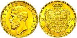 20 Lei, Gold, 1890, Karl I., Fb. 3, Vz.  Vz - Roemenië