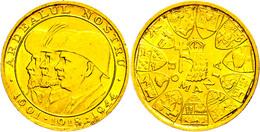20 Lei, Gold, 1944, Michael I., Auf Die Wiedereingliederung Siebenbürgens, Fb. 21, Kl. Kratzer, Vz-st.  Vz-st - Roemenië