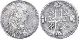 Rubel, 1728, Peter II., Dav. 1668, Ss.  Ss - Russland