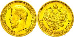 7 1/2 Rubel, Gold, 1897, Nikolaus II., Fb. 178, Wz. Rf., Ss.  Ss - Russland