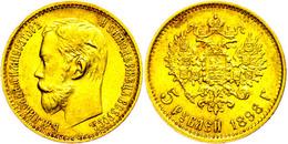 5 Rubel, Gold, 1898, Nikolaus II., Fb. 180, Vz.  Vz - Russland