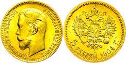 5 Rubel, Gold, 1898, Nikolaus II., Fb. 179, Kl. Kratzer, Vz-st.  Vz-st - Russland