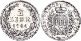 2 Lire, 1906, KM 5, Vz.  Vz - San Marino