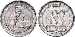 20 Lire, 1935, KM 11, Vz.  Vz - San Marino