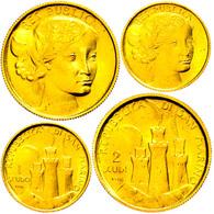 1 Und 2 Scudi, Gold, 1976, KM 60/61, Mit Zertifikat In Ausgabeschatulle, F. St. - San Marino