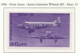 PIA - FRA - 1986 : Aereo Trimotore Wibault 283  - (Yv P.A. 59) - Aerei