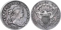1 Dollar, 1800, Philadelphia, Zwei Kl. Bearbeitete Stellen Auf Dem Avers, Schöne Patina, Ss.  Ss - United States