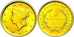 1 Dollar, Gold, 1852, Philadelphia, Fb. 84, Ss.  Ss - United States