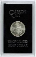 Dollar, 1884, Carson City, KM 110, In Hartplastikkapsel, Kratzer, Fast St. - United States