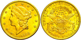 20 Dollars, Gold, 1888, San Francisco, Fb. 178, Vz.  Vz - United States