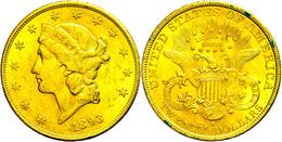 20 Dollars, Gold, 1893, San Francisco, Fb. 178, Kl. Rf., Etwas Grünspan, Ss-vz.  Ss-vz - United States