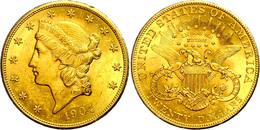 20 Dollars, Gold, 1904, Philadelphia, Fb. 177, Kl. Rf., Vz  Vz - United States