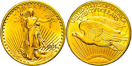 20 Dollars, Gold, 1911, Denver, Fb. 187, Kl. Rf. Und Kr., Vz.  Vz - United States