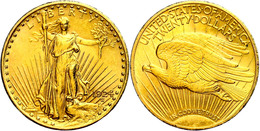 20 Dollars, Gold, 1924, Philadelphia, Fb. 185, Kl. Kr. Und Rf., Vz.  Vz - United States