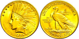 10 Dollars, 1932, Indian Head, Philadelphia, Fb. 166, Kl. Kratzer, Vz-st.  Vz-st - United States