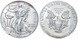 1 Dollar, 2014, Silver Eagle, In Slab Der PCGS Mit Der Bewertung MS70, First Strike, Government Box #5, Mercanti Label,  - United States