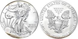 Dollar, 2014, Silver Eagle, In Slab Der PCGS Mit Der Bewertung MS70, First Strike, Government Box #7, Mercanti Label, Et - United States