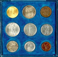 Set Zu 5 Centesimi Bis 100 Lire (Gold), 1929, Pius XI., In Ausgabeschatulle (etwas Bestoßen), St.  St - Vatican