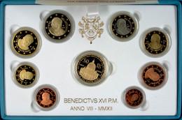1 Cent Bis 2 Euro, 2012, Euro KMS Mit 50 Euro Gold, 13,74 G Fein, Fb. 461, Papst Benedikt XVI., Alle Münzen In Kapsel, I - Vatican