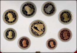1 Cent Bis 2 Euro, 2015, Euro KMS Mit 50 Euro Gold, 13,74 G Fein, Fb. 483, , Papst Franziskus, Alle Münzen In Kapsel, In - Vatican