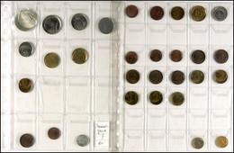 Sammlung Von 28x Verprägungen Der BRD, U.a. Mit 1 Pfennig (5x), 2 Pfennig (7x), 5 Pfennig (7x), 10 Pfennig (3x), 50 Pfen - Münzen