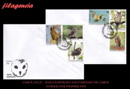 AMERICA. CUBA SPD-FDC. 2019 AVES RAPACES NOCTURNAS CUBANAS - FDC
