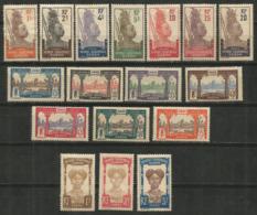 GABON YVERT NUM. 49/65 * SERIE COMPLETA CON FIJASELLOS - Gabon (1886-1936)