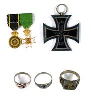 Kleiner Nachlass Mit Eisernes Kreuz 2. Klasse Ausgabe 1914, Schweden Königlicher Wasa-Orden, 2. Modell (1860-1975) Minia - Ohne Zuordnung