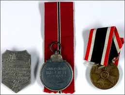 Kriegsverdienstmedaille (1940-1945) Mit Band OEK 3837, Medaille Winterschlacht Im Osten 1941/42 Mit Band OEK 3850 Und Ta - Libri, Riviste & Cataloghi