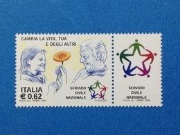 2003 ITALIA FRANCOBOLLO NUOVO STAMP NEW MNH** SERVIZIO CIVILE NAZIONALE - 2001-10: Nieuw/plakker