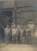 Grande Photo Originale De Mineurs Au Trieu Kaisin Puist Des Viviers à Gilly Vers 1920? 12 X 17 Cm - België