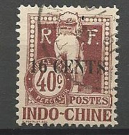 INDOCHINE TAXE N° 25 OBL TB - Timbres-taxe
