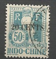 INDOCHINE TAXE N° 26 OBL TB - Timbres-taxe