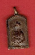 MEDAILLE BRONZE SAINTE ODILE PATRONNE DE L ALSACE GRAVEUR ALINE LAUTH BOSSERT 1869 1955 - Religion & Esotérisme