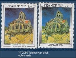 "FR Variétés YT 2059 "" Tableau Diane Au Bain "" église Verte - Varieteiten: 1970-79 Postfris"
