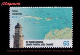 AMERICA. CUBA MINT. 2019 22 CONFERENCIA DE LA UNIÓN POSTAL DEL CARIBE - Cuba