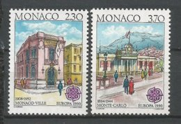 MONACO ANNEE 1990 N° 1724 1725 NEUFS** NMH - Monaco