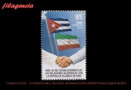 AMERICA. CUBA MINT. 2019 40 ANIVERSARIO DE LAS RELACIONES DIPLOMÁTICAS CUBA-IRÁN - Cuba